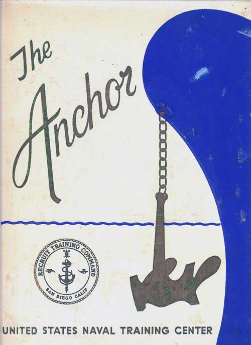 Front Cover, Navy Boot Camp Book 1969 Company 159 The Anchor