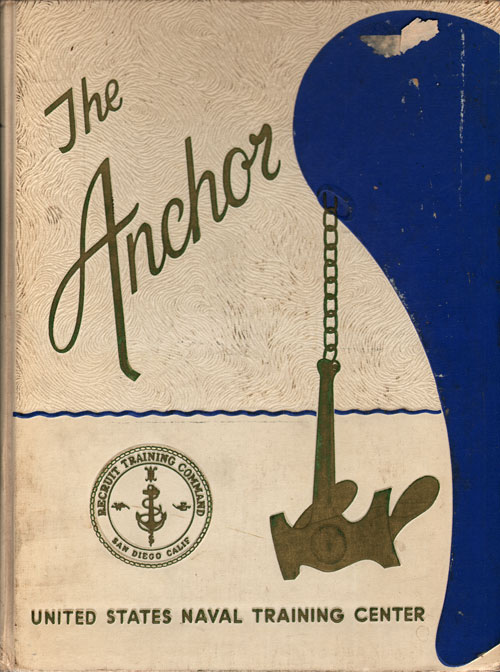 Front Cover, Navy Boot Camp Book 1969 Company 416 The Anchor