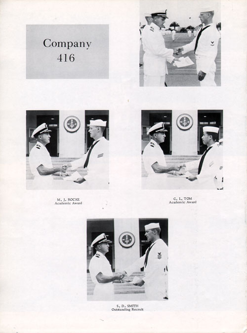 Company 69-416 Recruit Honors