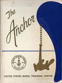Front Cover, Navy Boot Camp Book 1969 Company 438 The Anchor