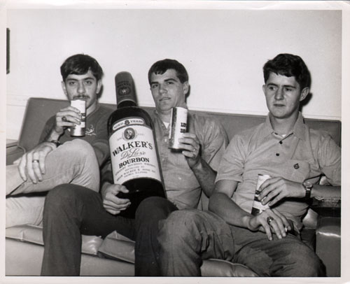 1970s Staged Photograph of Virgil Lovejoy and Two Shipmates