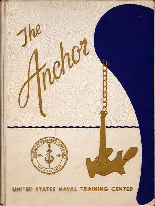 Front Cover, Navy Boot Camp Book 1972 Company 114 The Anchor