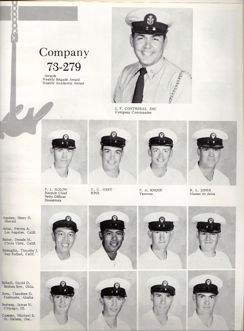 Navy Boot Camp Book 1973 Company 279 The Anchor Gg Archives