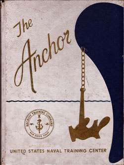 Front Cover, Navy Boot Camp Book 1976 Company 025 The Anchor
