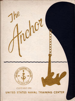 Front Cover, Navy Boot Camp Book 1976 Company 086 The Anchor