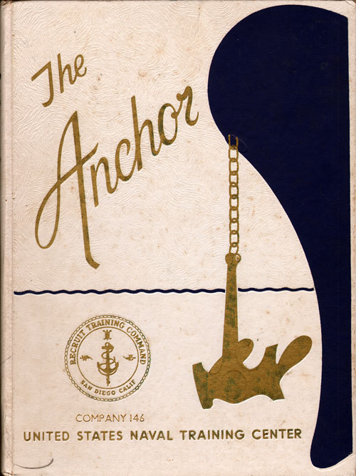Front Cover, Navy Boot Camp Book 1976 Company 146 The Anchor