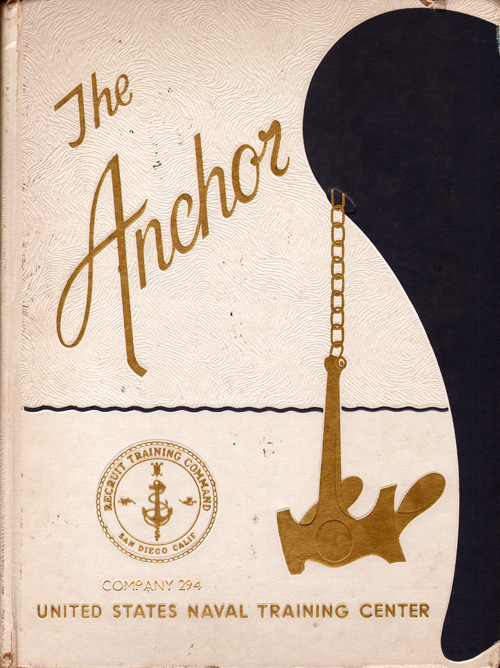 Front Cover, Navy Boot Camp Book 1976 Company 294 The Anchor
