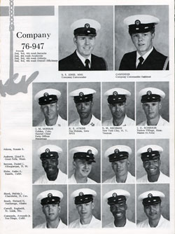 Navy Boot Camp San Diego Yearbook 1976 Company 947 Gg