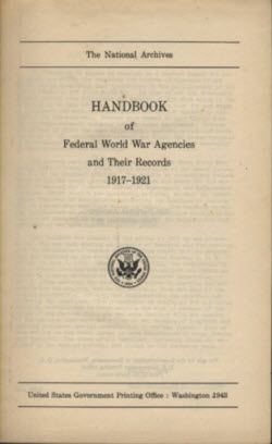 Handbook of Federal World War Agencies and their Records