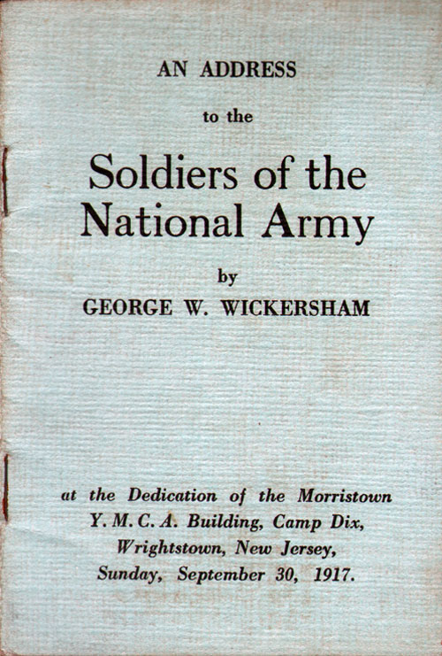 An Address to the Soldiers of the National Army - Camp Dix