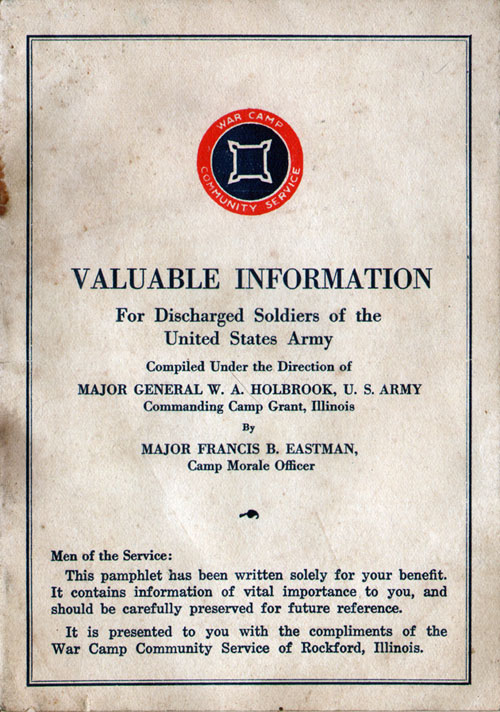Information for Discharged Soldiers of the United States Army (1919)