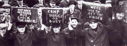 Camp Dodge or Bust - MHS Photograph (partial)
