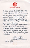 Letter to Soldiers of The United States from King George V