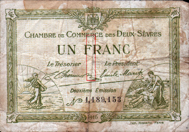 French currency used by soldiers stationed in france gg for Chambre cinquante sept