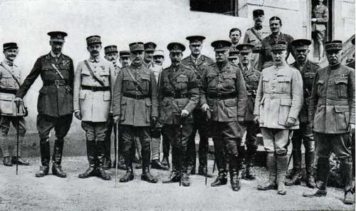 British and French Military Leaders from World War One