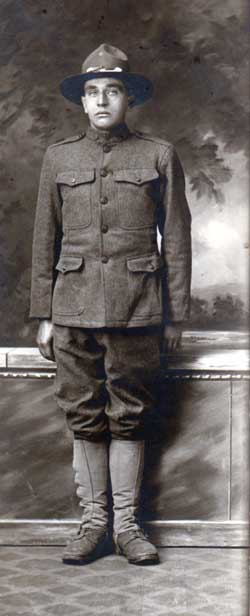 Corporal Ludvig Gjenvick of the A.E.F. circa 1917