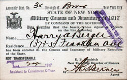 Military Census and Inventory Card