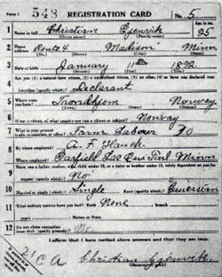 WWI Draft Registration Cards