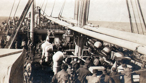 Soldiers on B Deck of the Princess Matoika