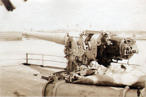 One of the Six-Inch Guns aboard the Princess Matoika during World War I
