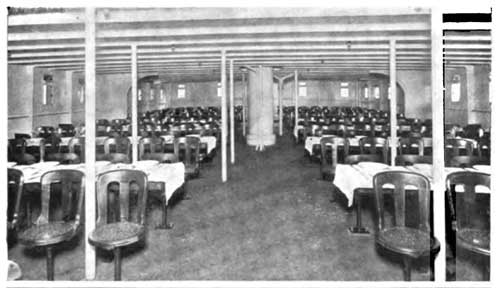 Third Class Dining Room on the S.S. Gothland