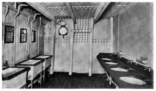 View of One of the Washrooms on the S.S. Lapland