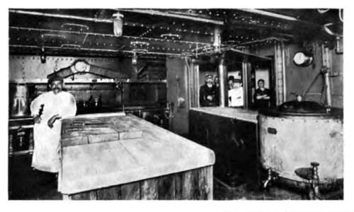 View of the Galley on the SS Lapland