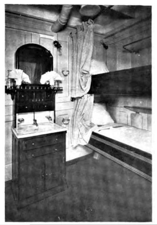 Stateroom Showing Forced Ventilation - SS Minnesota