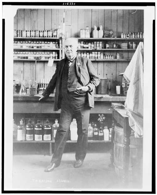 Thomas A. Edison In His Laboratory - c1911