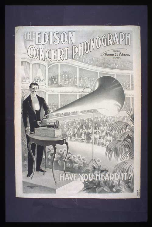 Thomas Edision and the Phonograph
