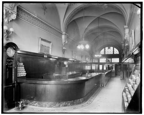 Photo 4a21109u - Grand Trunk Western Railroad Ticket Office Detroit MI - c1905