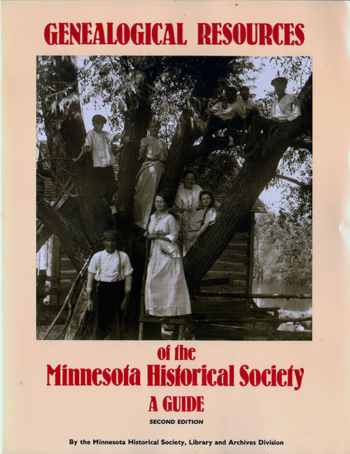 Front Cover - Genealogical Resources of the Minnesota Historical Society: A Guide, Second Edition
