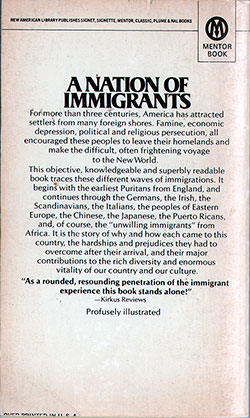 Back Cover - America Fever: The Story of American Immigration