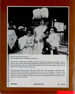 Back Cover - Immigrant Kids by Russell Freedman