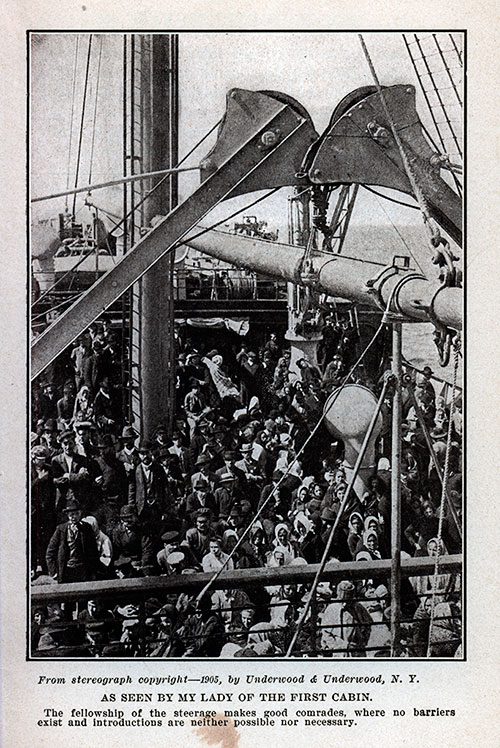 Steerage Passengers Crowded on Deck