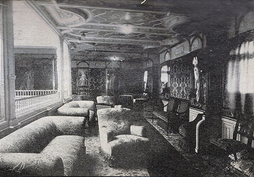 First Cabin Drawing Room - S.S. Kaiser Wilhelm der Grosse