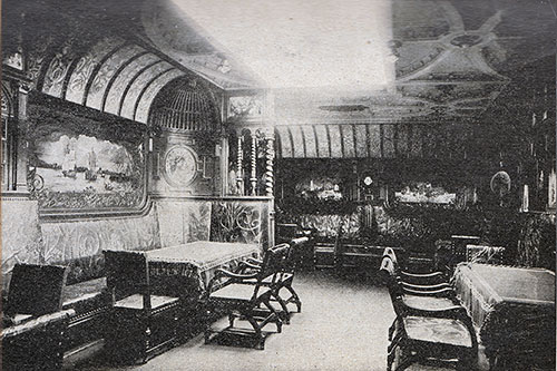 Smoking Room, First Cabin - S.S. Kaiser Wilhelm der Grosse