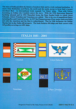 Back Cover, Italia 1881-2001, Merchant Fleets Volume 40 (2001) Duncan Haws