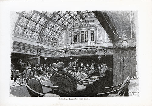 In the Grad Saloon of an American Steamer