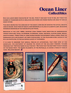 Back Cover - Ocean Liner Collectibles with Price Guide