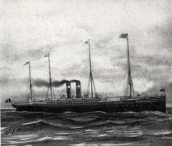 The American Line Steamship Westernland - 1907