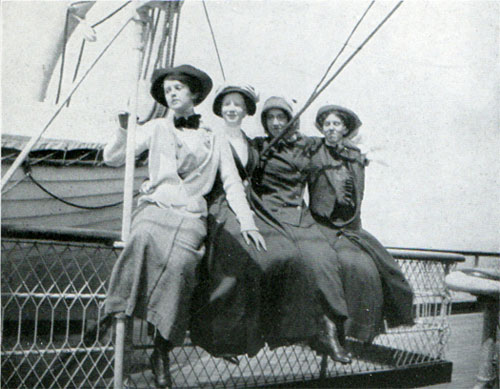 Passengers Enjoying the View On Deck