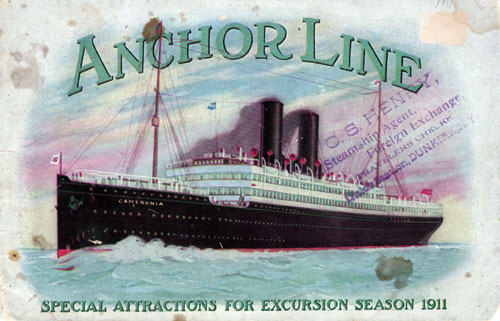 1911 Anchor Line Brochure - Excursion Season