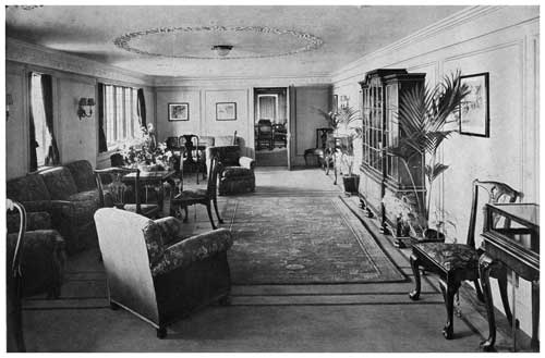 """A"" Deck Corridor Lounge of the California"