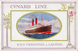 1912 Cunard Line R.M.S. Franconia and Laconia