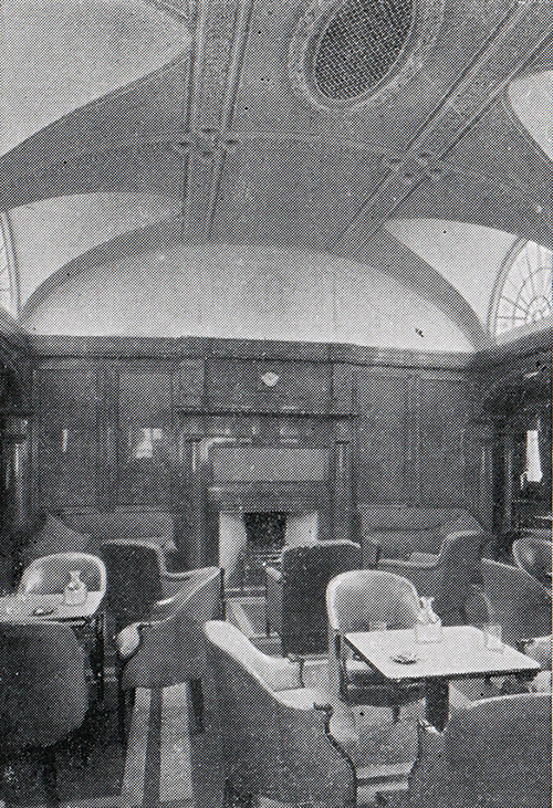 Fireplace, Smoking Room, First Class