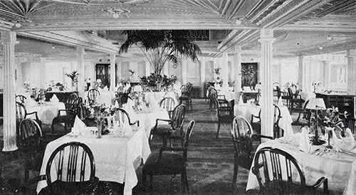 Dining Saloon in First Class