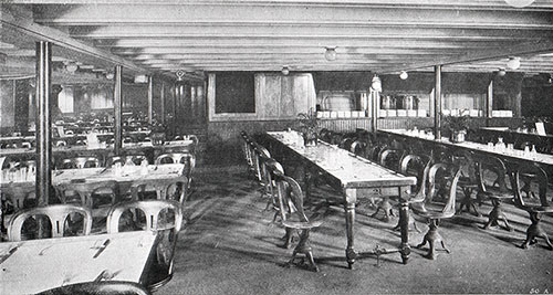 Dining Room, Third Class / Steerage Part 20