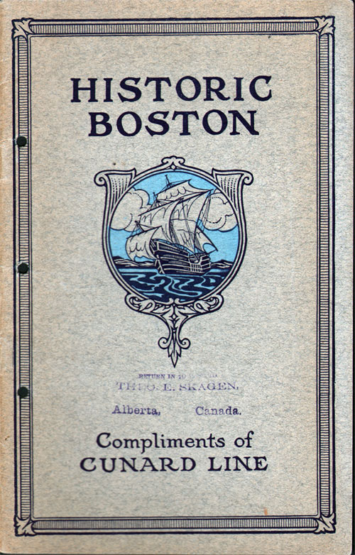Service to Boston by the Cunard Line - 1914