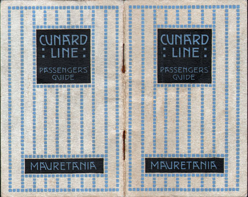 Passengers' Guide to the R.M.S. Mauretania from 1921